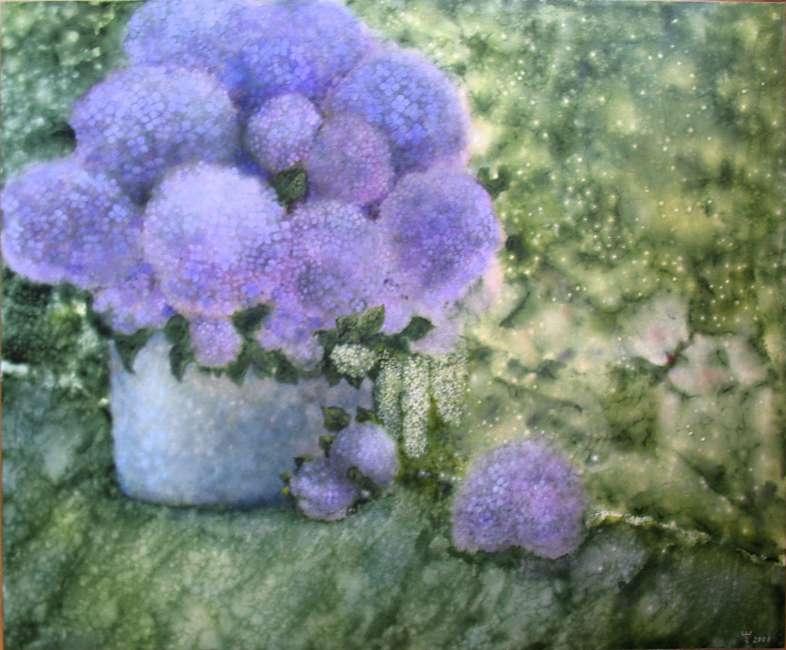 durch die Blumen 120x100